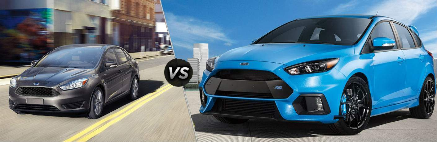 2017 Ford Focus vs 2017 Ford Focus RS