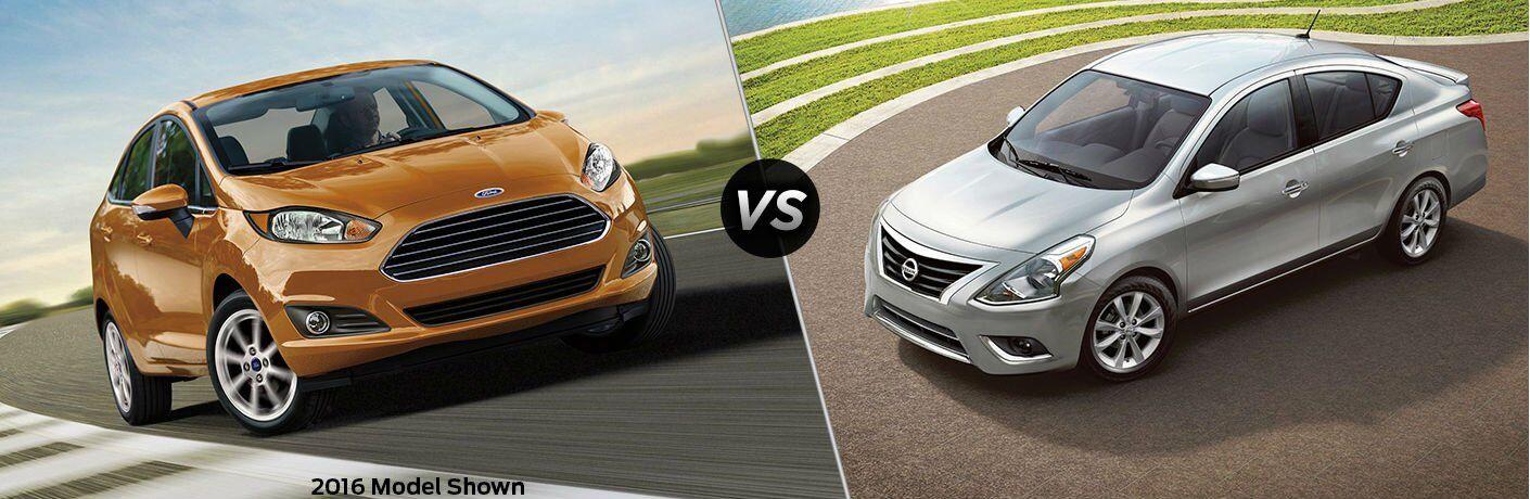 2017 Ford Fiesta vs 2017 Nissan Versa