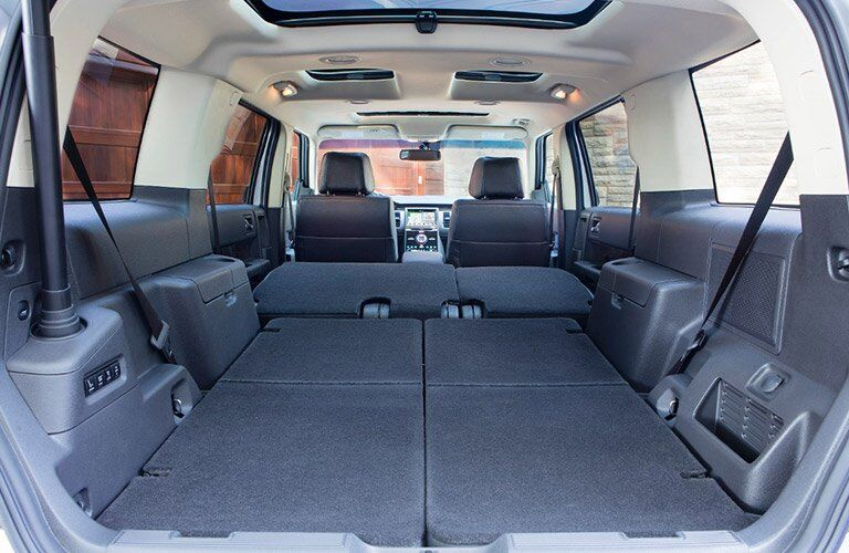 2017 Ford Flex rear interior cargo space