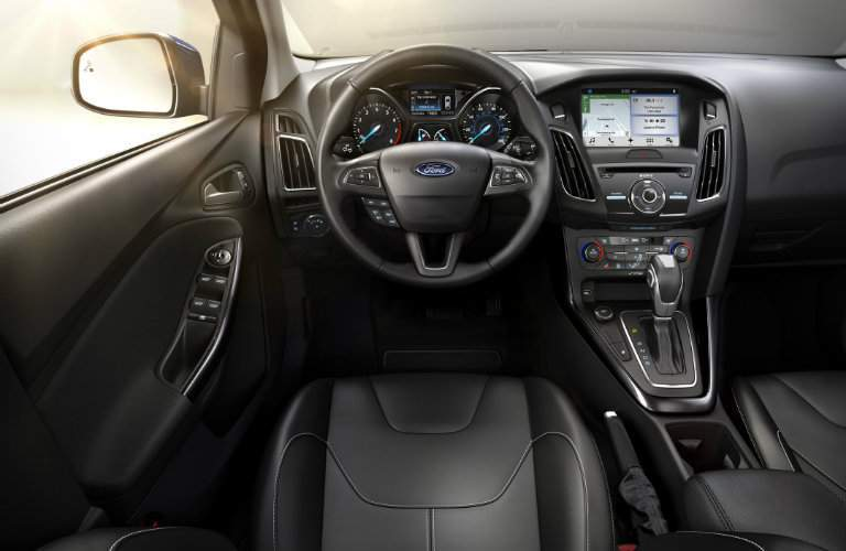 2017 Ford Focus front interior driver dash and display audio