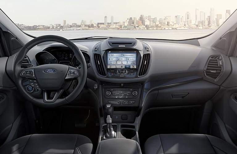 2017 Ford Escape front interior driver dash and infotainment system
