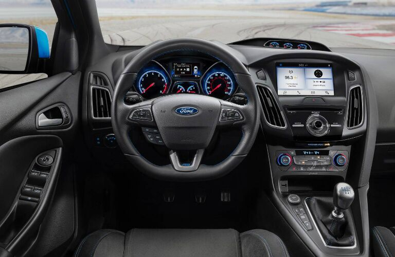 2017 Ford Focus RS steering wheel and dash