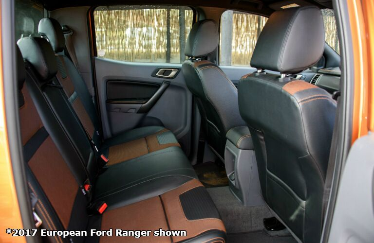 2017 Ford Ranger european version interior back seat