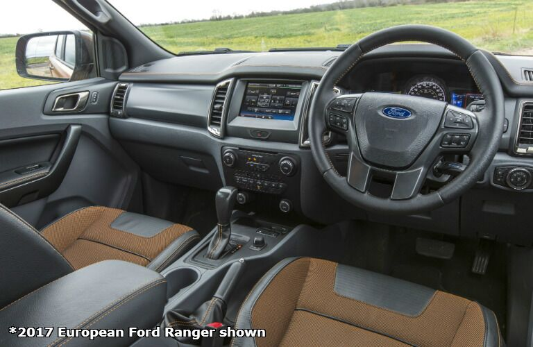 2017 Ford Ranger european version dash