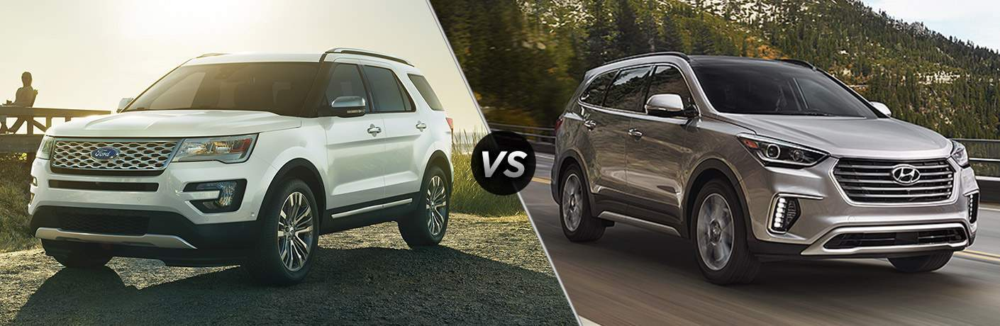 2018 Ford Explorer vs 2018 Hyundai Santa Fe
