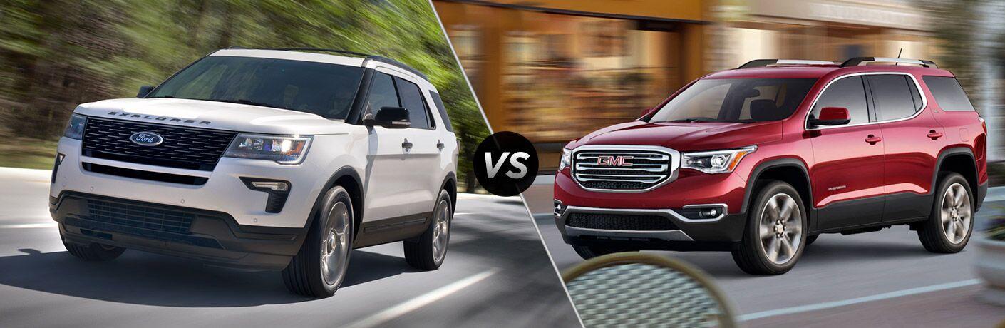 2018 Ford Explorer vs 2018 GMC Acadia