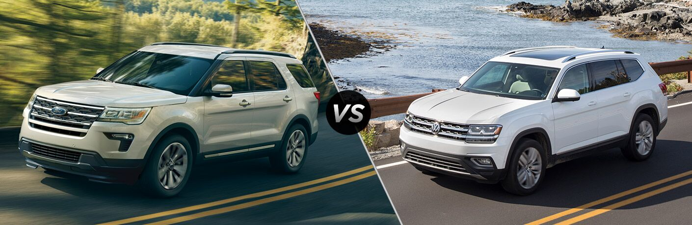 2018 Ford Explorer vs 2018 Volkswagen Atlas