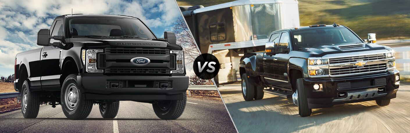 2018 Ford F-350 Super Duty vs 2018 Chevrolet Silverado 3500