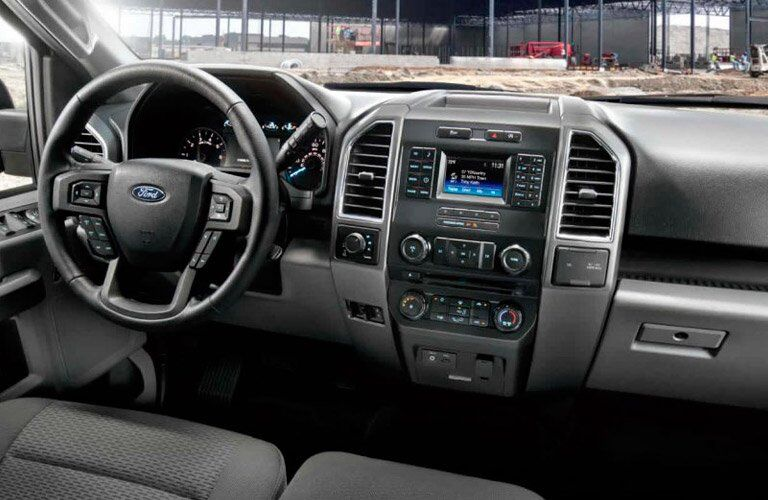2018 Ford F-150 front interior driver dash and display audio
