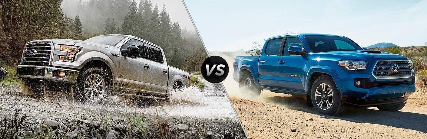 2018 Ford F-150 vs 2018 Toyota Tacoma