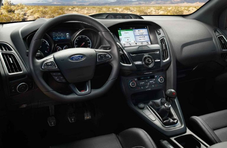 driver dash and infotainment system of a 2018 Ford Focus ST