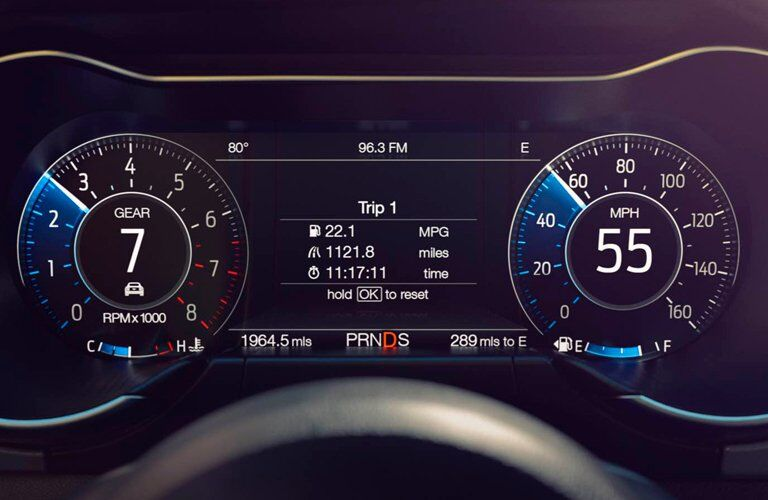 2018 Ford Mustang front interior instrument cluster