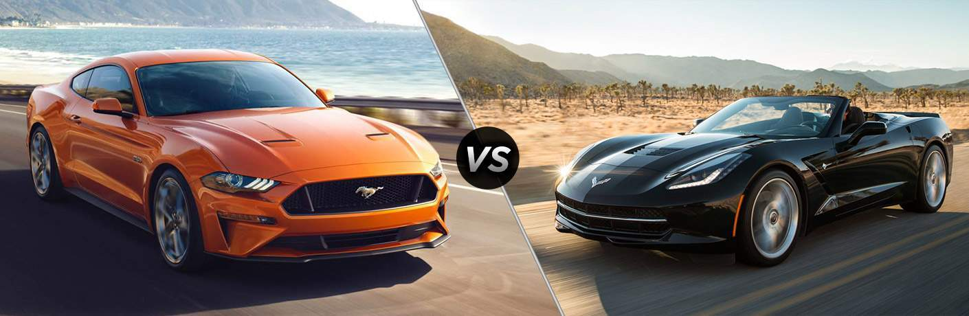 2018 Ford Mustang vs 2018 Chevy Corvette Stingray