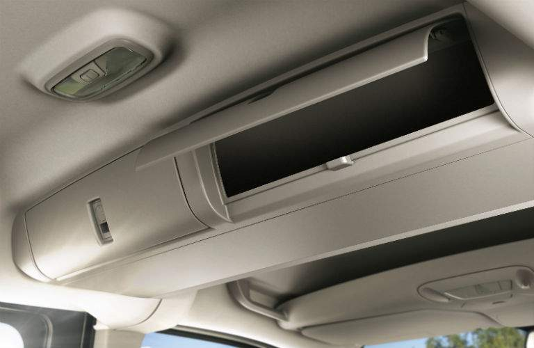 overheard storage compartment in a 2018 Ford Transit Connect Passenger Wagon
