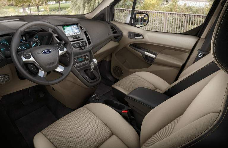 driver dash and infotainment system of a 2018 Ford Transit Connect