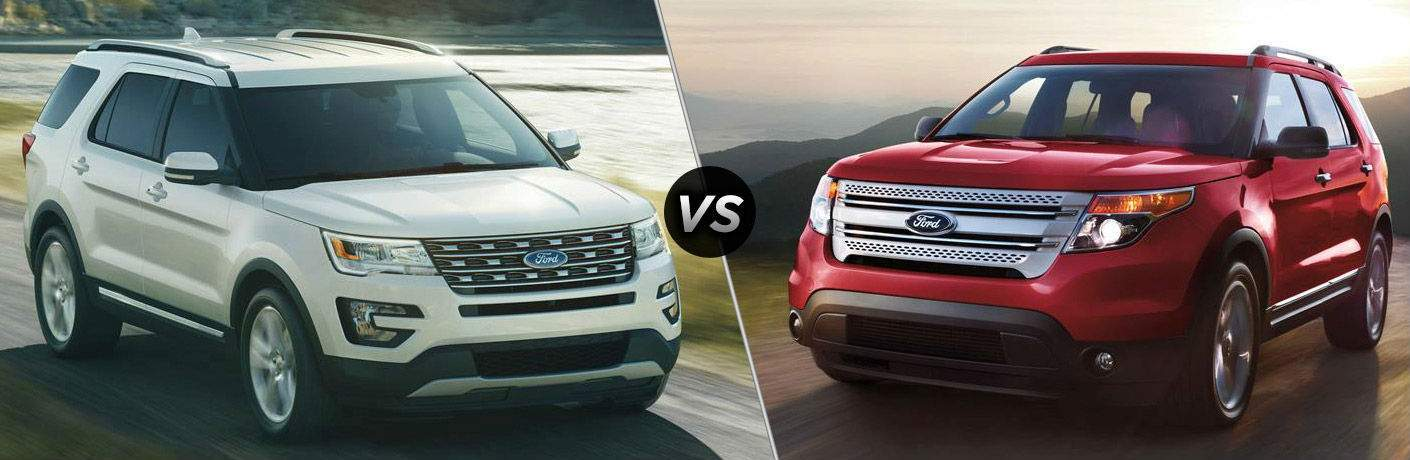 2018 Ford Explorer vs 2017 Ford Explorer