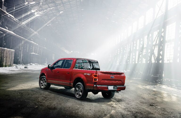 2018 Ford F-150 Diesel red side view