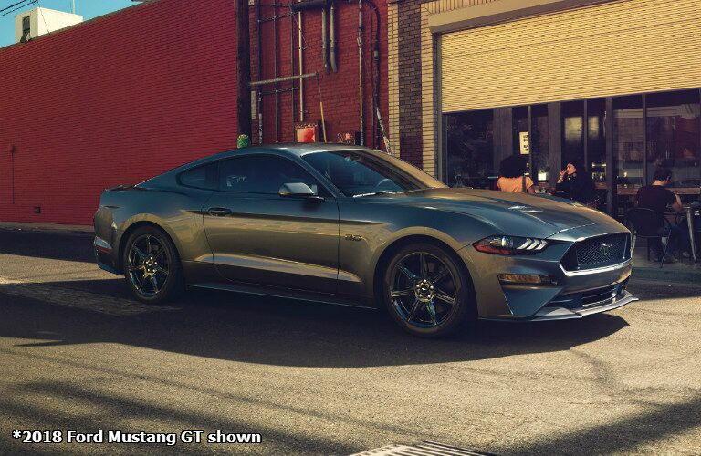2018 Ford Mustang GT gray side view