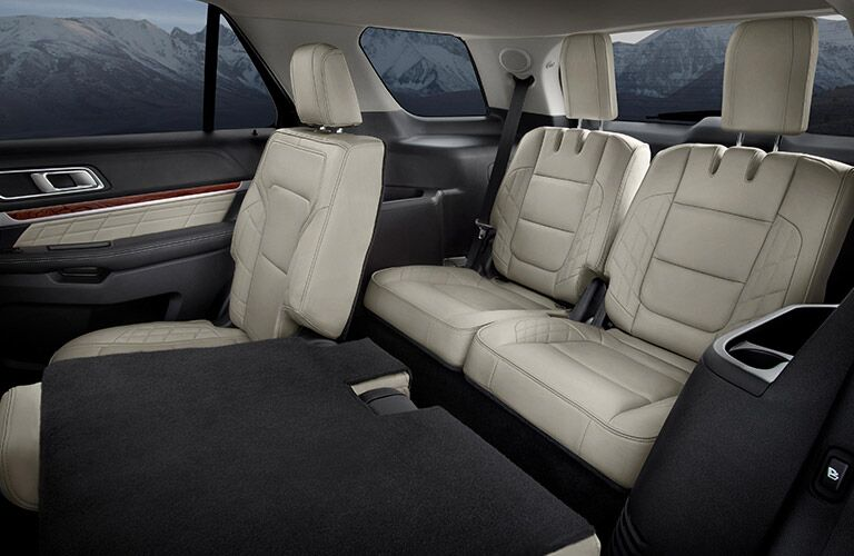 rear passenger space in a 2019 Ford Explorer