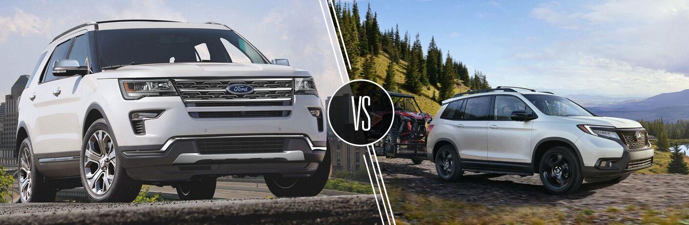 2019 Ford Explorer vs 2019 Honda Passport