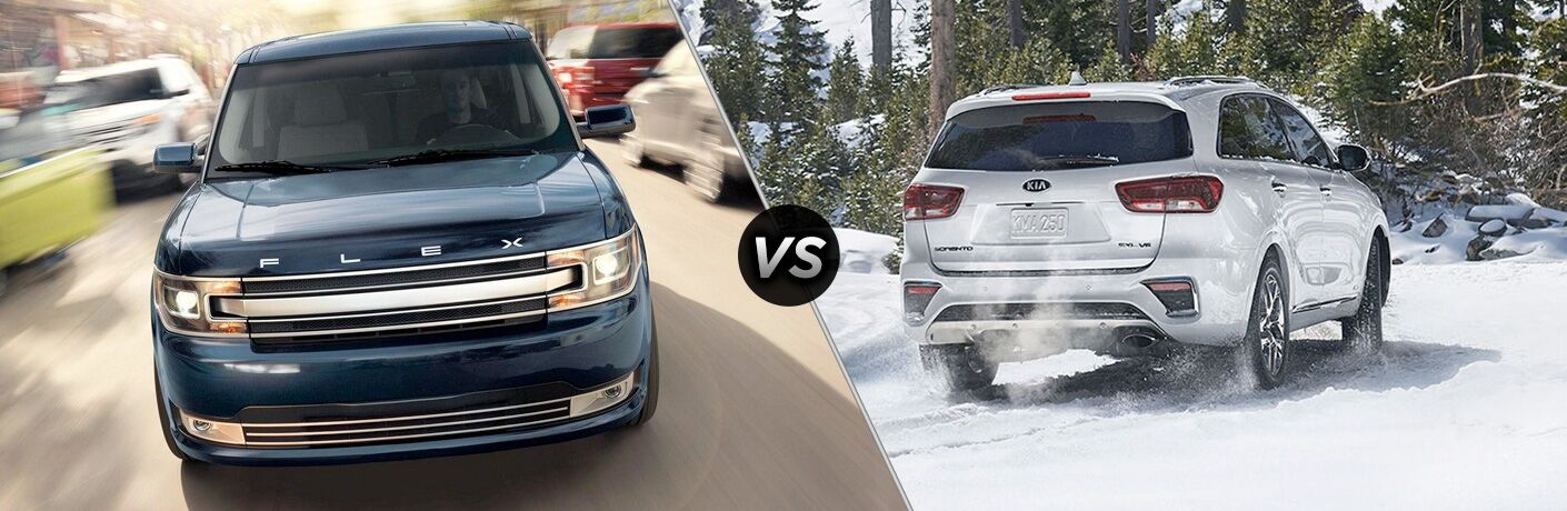 2019 Ford Flex vs 2019 Kia Sorento