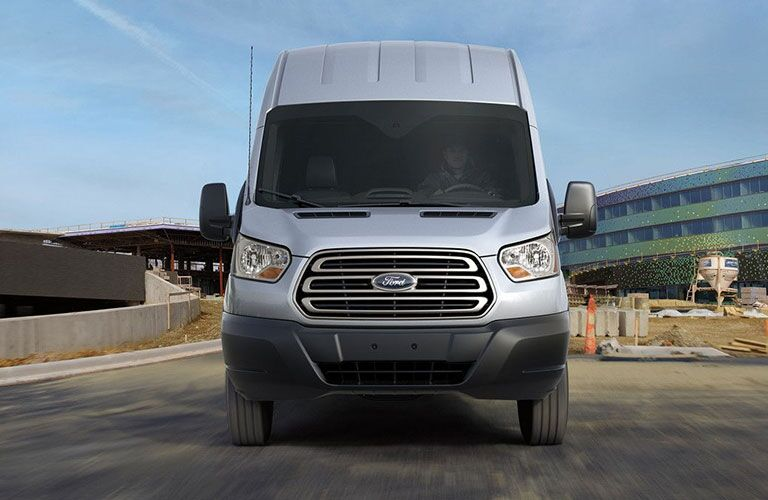 front view of a white 2019 Ford Transit Connect Cargo Van
