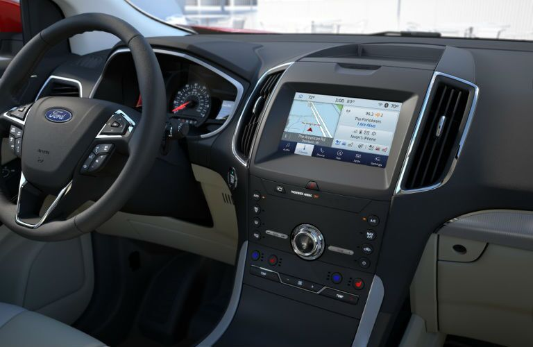driver dash and infotainment system of a 2020 Ford Edge