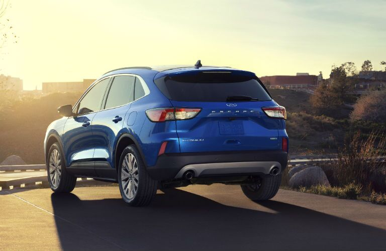 rear view of a blue 2020 Ford Escape
