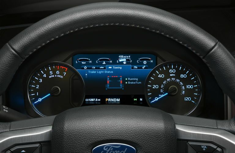 driver dash in a 2020 Ford F-150