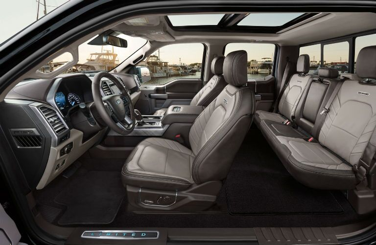 full interior of a 2020 Ford F-150
