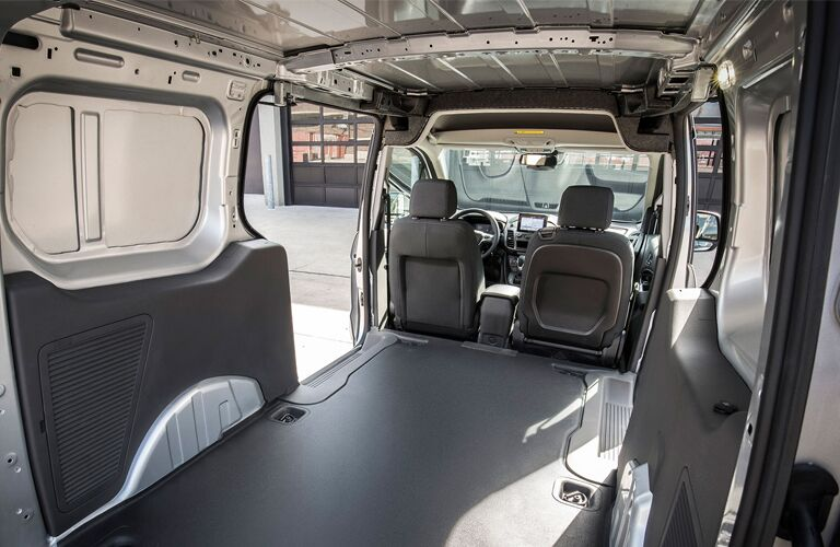 rear cargo area in a 2020 Ford Transit Connect Cargo Van