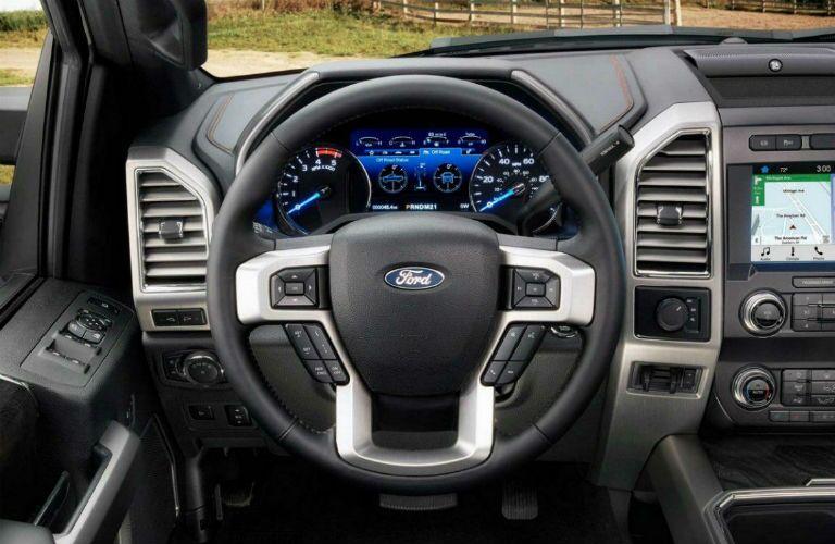 driver dash in a 2020 Ford F-350 Super Duty