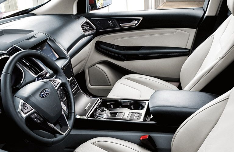 front interior of a 2021 Ford Edge