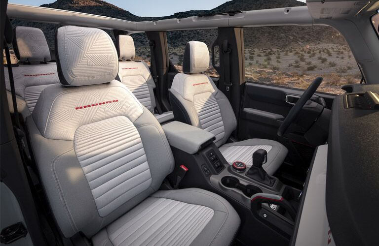 front passenger space in a 2021 Ford Bronco 2-Door