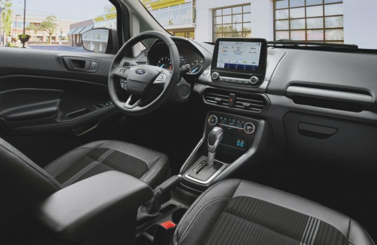 front interior of a 2021 Ford EcoSport