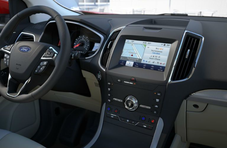 infotainment system in a 2021 Ford Edge ST