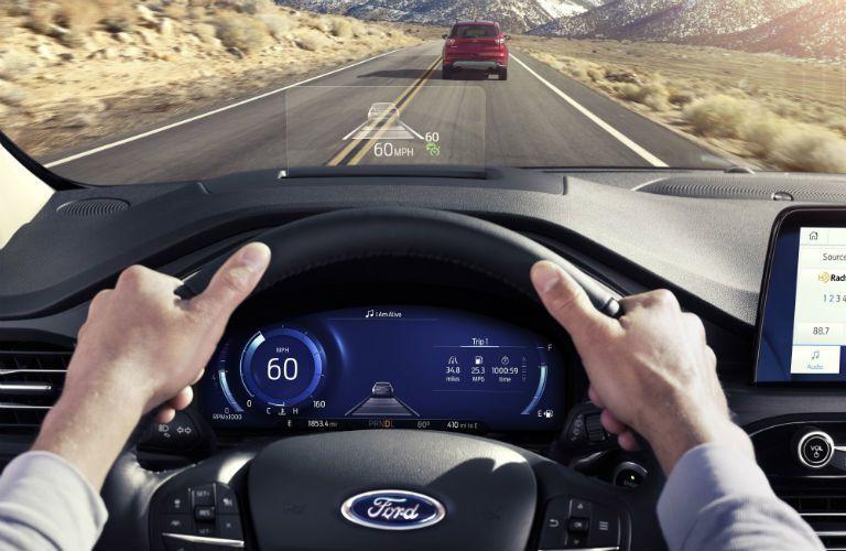 driver dash in a 2021 Ford Escape Hybrid