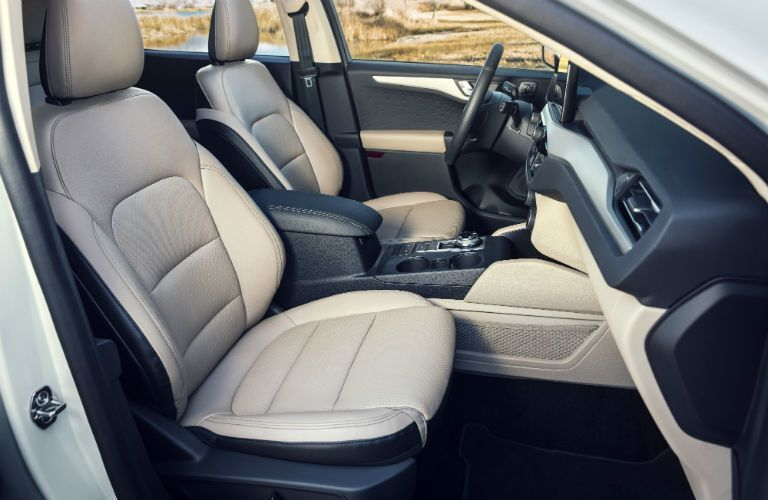 front interior of a 2021 Ford Escape Hybrid