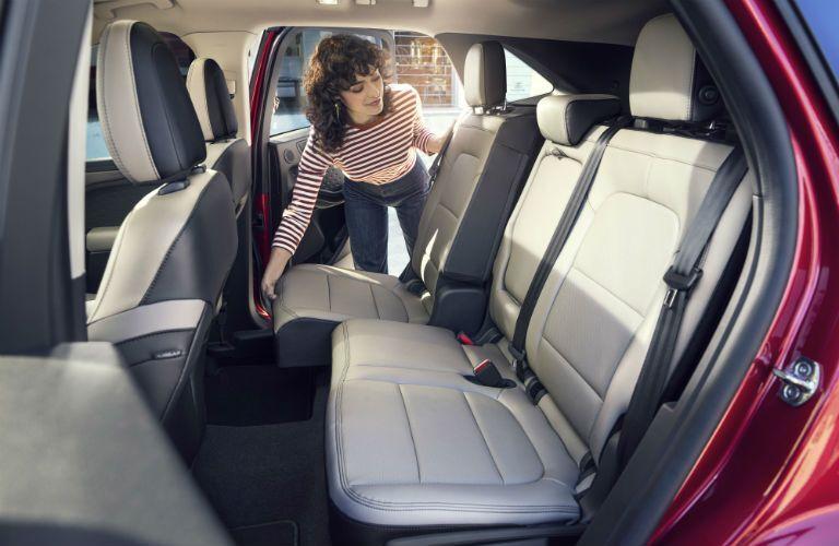 rear interior of a 2021 Ford Escape Hybrid