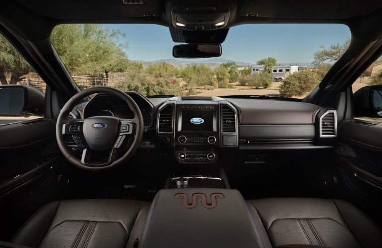 front interior of a 2021 Ford Expedition King Ranch