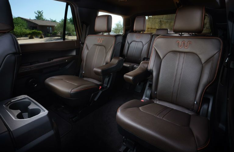 rear interior of a 2021 Ford Expedition King Ranch