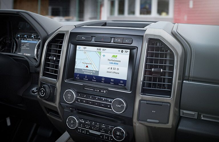 infotainment system in a 2021 Ford Expedition