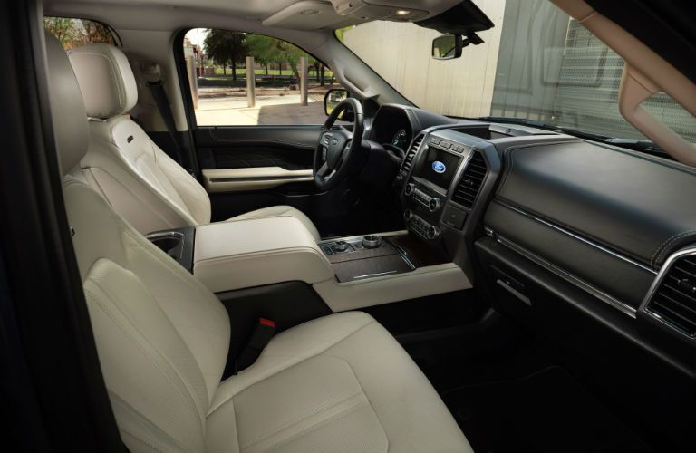 front interior of a 2021 Ford Expedition Platinum