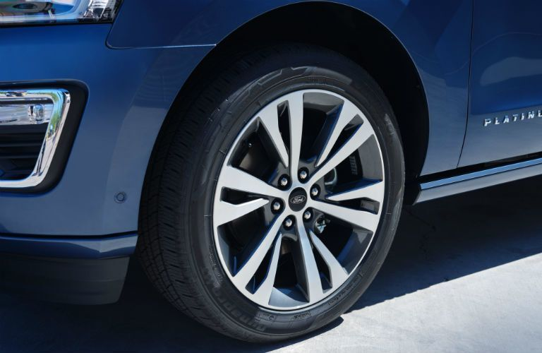wheel of a 2021 Ford Expedition Platinum