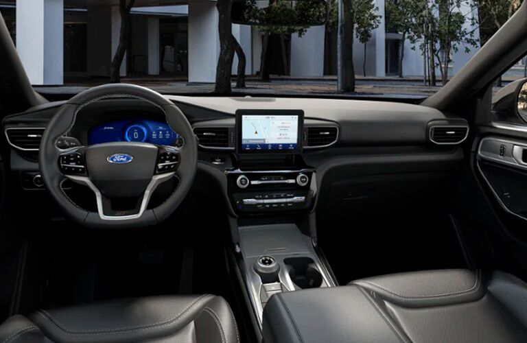 front interior of a 2021 Ford Explorer