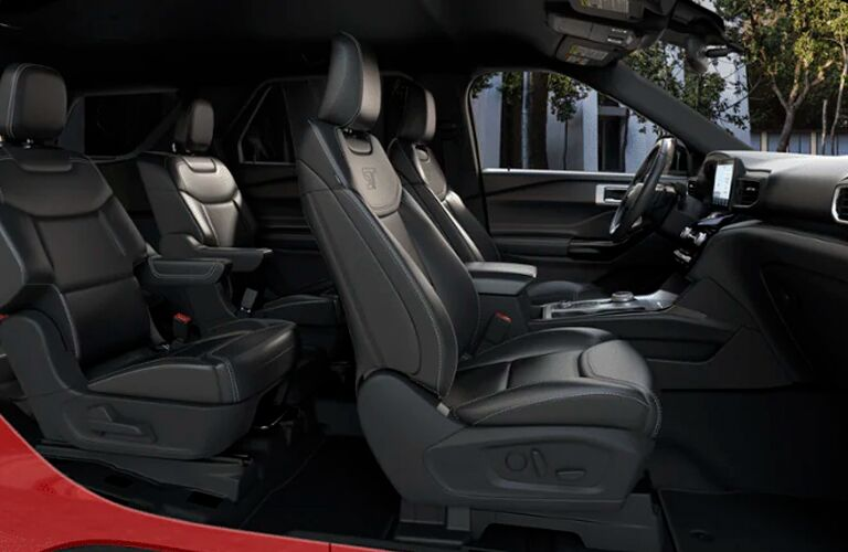 full interior of a 2021 Ford Explorer
