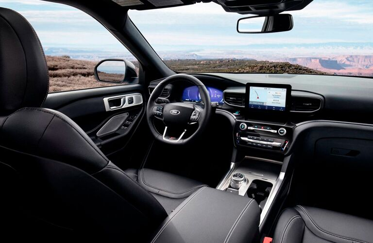 front passenger space in a 2021 Ford Explorer Enthusiast ST
