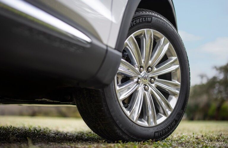 wheel of a 2021 Ford Explorer King Ranch