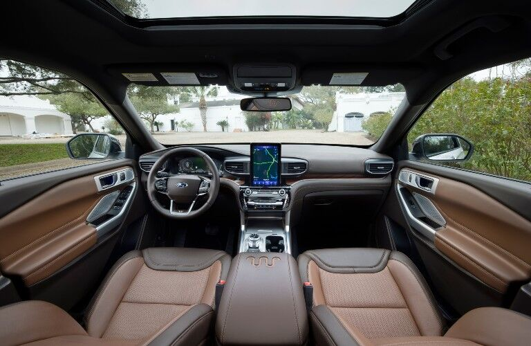 front interior of a 2021 Ford Explorer King Ranch