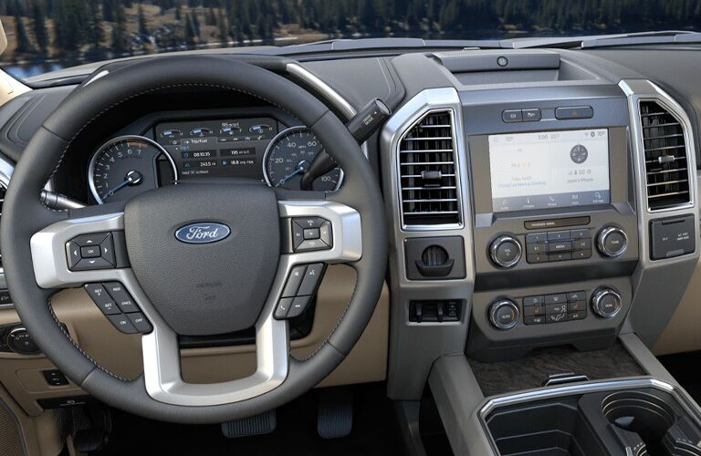 front interior of a 2021 Ford F-450
